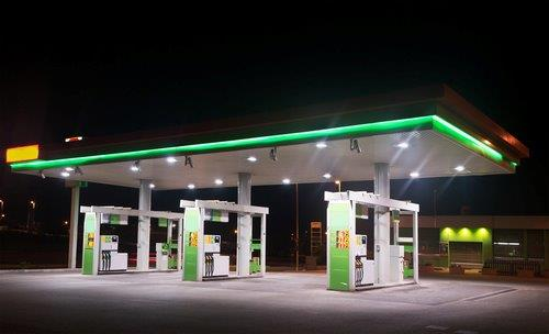Gas station pumps at night 1-1